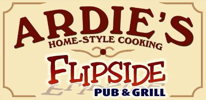 Ardies Home Style Cooking | Flipside Pub & Grill - Logo